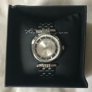 Kenneth Cole Rhinestone and Stainless Steel Watch